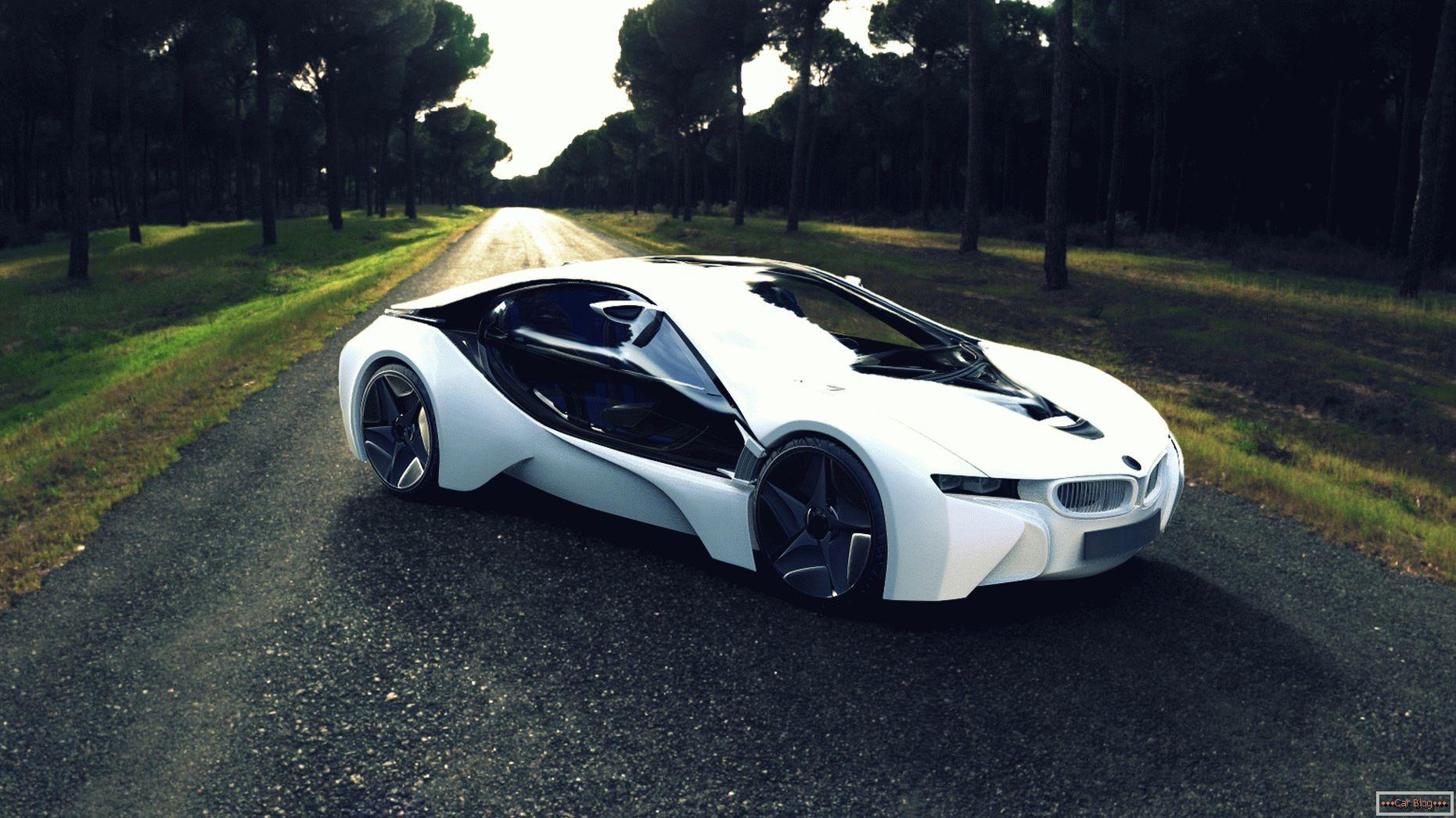 BMW i8 - первый гибридный суперкар BMW