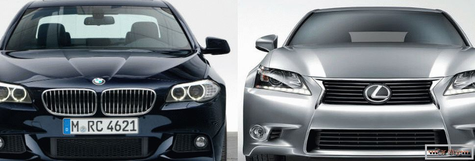 BMW and Lexus cars