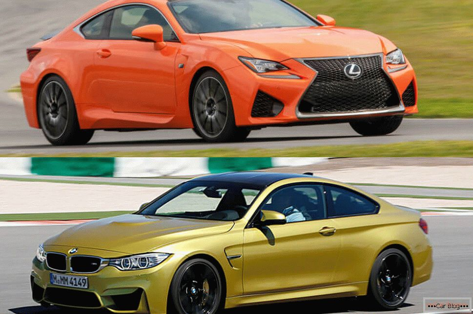 Sports cars Lexus and BMW