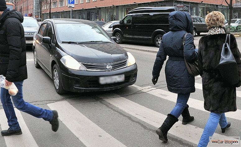 what is the penalty for not passing a pedestrian at a pedestrian crossing