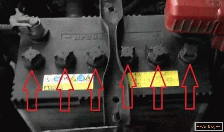 What acid is poured into the car battery
