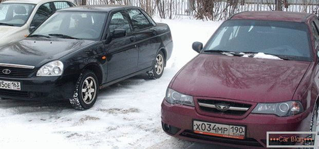Russian Lada Priora and Daewoo Nexia of the Uzbek assembly - which is more acceptable for our consumer