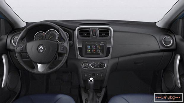 Inside the car Renault Sandero