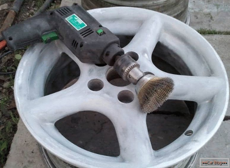 how to do the restoration of the coating alloy wheels do it yourself