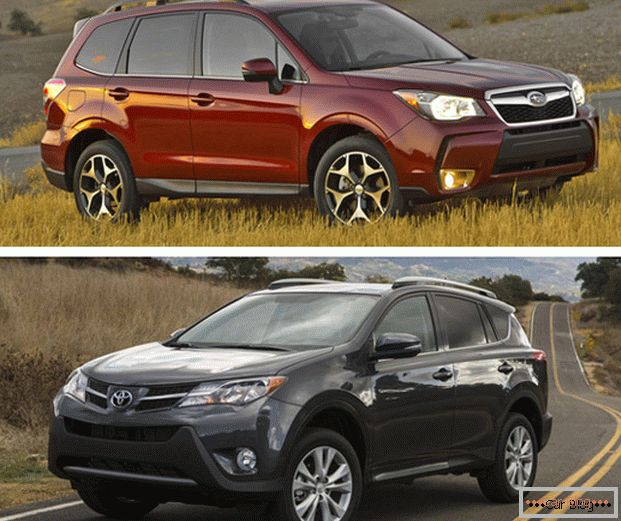 Subaru Forester and Toyota Rav4 - Japanese SUVs from reputable manufacturers
