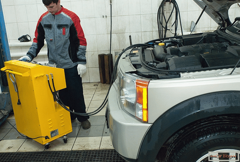 how to pour oil for an automatic transmission